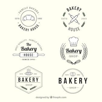 Bäckereilogosammlung in der weinleseart