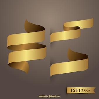 Bänder goldenen freie vektoren