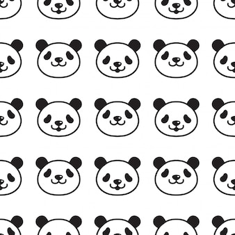 Bär panda nahtlose muster cartoon