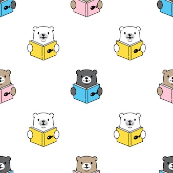 Bär polar nahtlose muster lesebuch