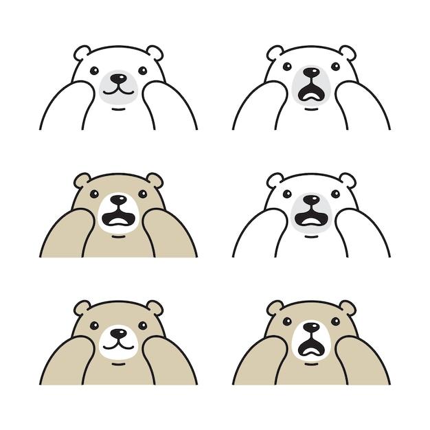 Bär polar-teddy-cartoon-figur
