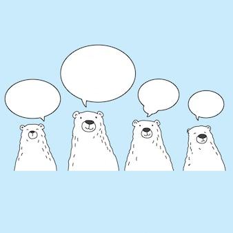Bär polar zeichen cartoon
