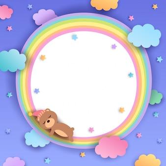 Bär-regenbogen-rahmen