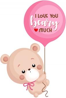 Bär und ballon