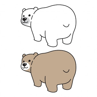 Bär vektor polar cartoon illustration