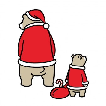 Bär weihnachten santa claus tasche cartoon