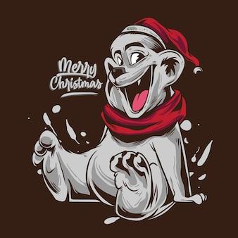 Bär weihnachtskarikatur