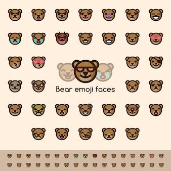 Bären emoji gesichter