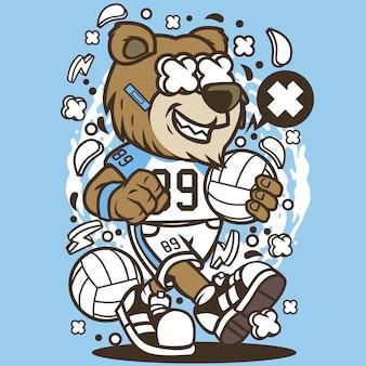 Bären-volleyball-spieler