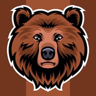 Bärenkopf maskottchen logo