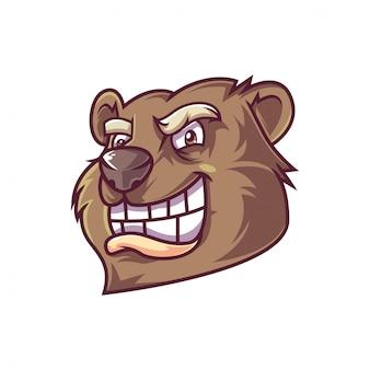 Bärenkopfillustration