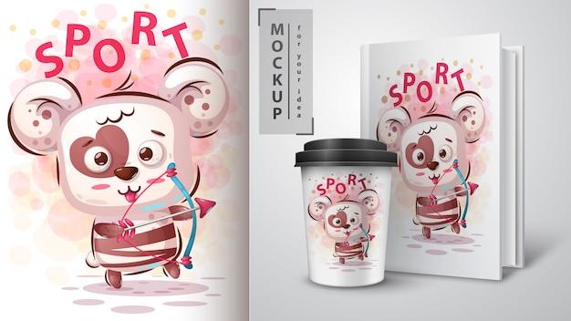 Bärenliebe sportposter und merchandising