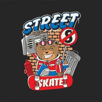 Bärn-straßen-skateboard