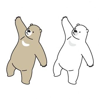 Bärn-vektor-karikaturillustration