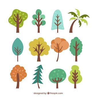 Bäume einfache farbsatz