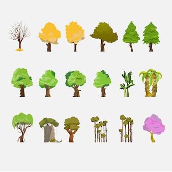 Bäume eingestellt.