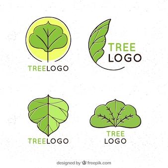 Bäume logos sammlung für unternehmen