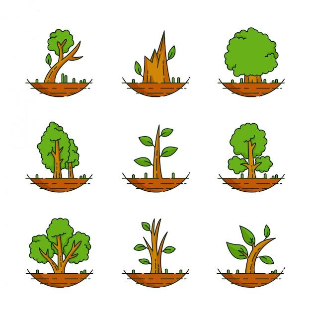 Bäume sammlungssatz
