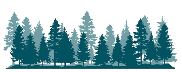 Bäume silhouetten hintergrund