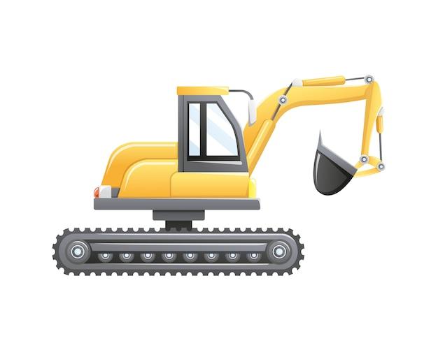 Baggerbau und bergbaufahrzeug