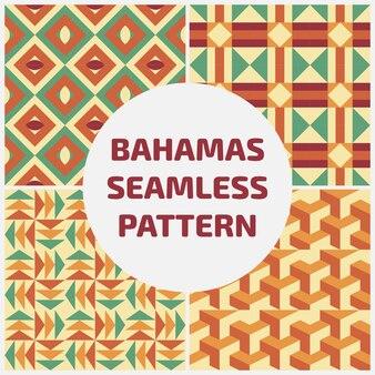 Bahamas seamles musterhintergrundsatz