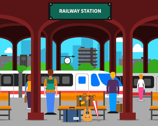 Bahnhofsillustration