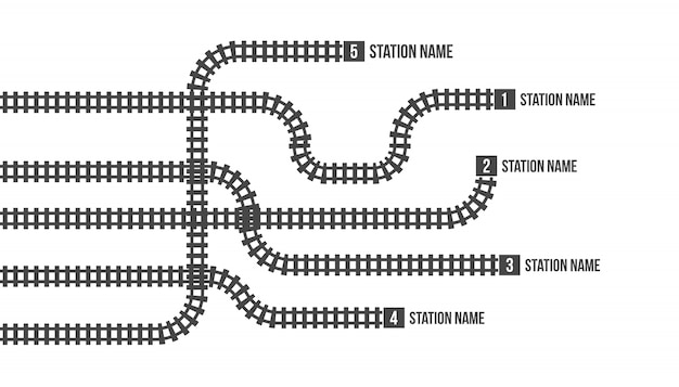 Bahnhofskarte, u-bahn, infografik, eisenbahn.