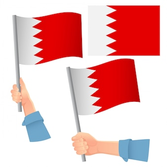 Bahrain flagge im handset