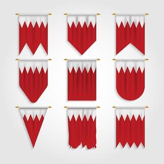 Bahrain flagge in verschiedenen formen, flagge von bahrain in verschiedenen formen
