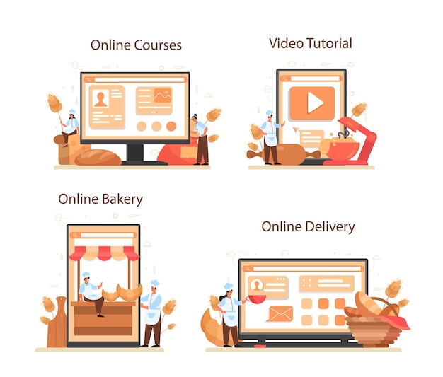 Baker online-service oder plattform-set