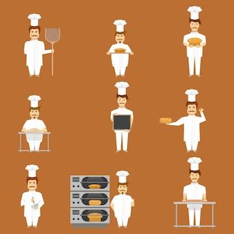 Baker set von charakteren