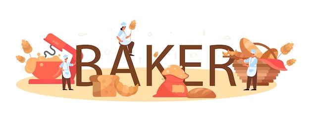 Baker typografische überschrift.