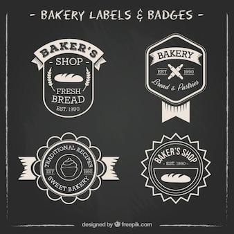 Bakery etikette und abzeichen packen