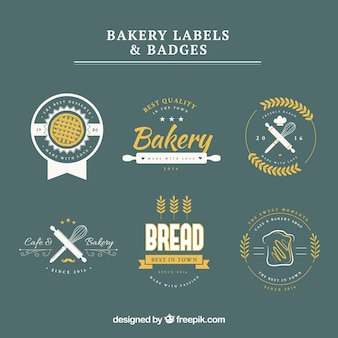 Bakery etikette und abzeichen