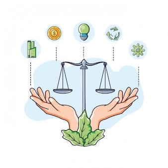 Balance und nachhaltigkeit