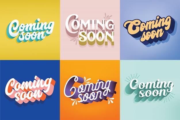 Bald erhältlich typografie