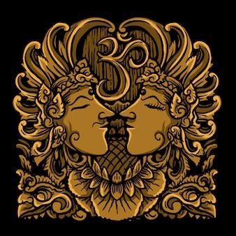 Balinesische erleichterung