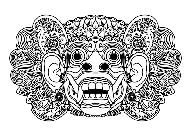 Balinesische maske barong