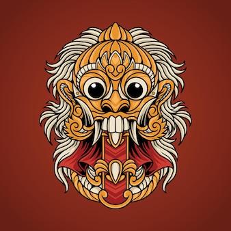 Balinesische rangda-maske
