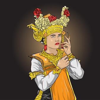Balinesischer legong-tanz