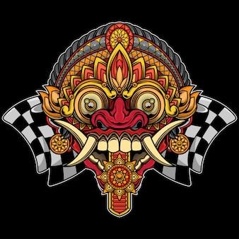 Balinesischer rangda-maskenentwurf