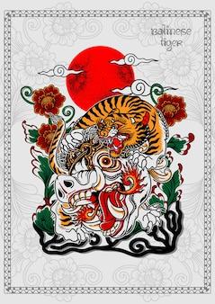 Balinesischer tiger tattoo poster