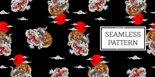 Balinesisches tigermuster