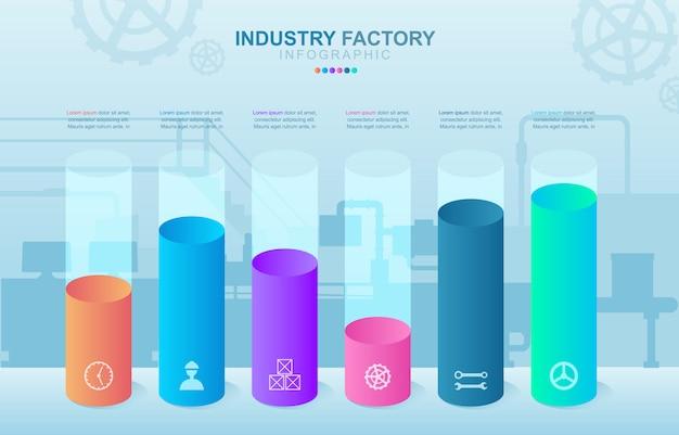 Balkendiagramm diagramm finanzanalytik statistical factory industrial business infografik