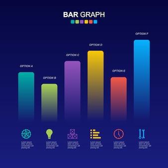 Balkendiagramm diagramm finanzanalytische statistische geschäftsinfografik illustration