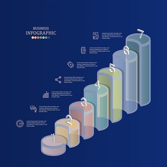 Balkendiagramm-infografiken für geschäftskonzept.