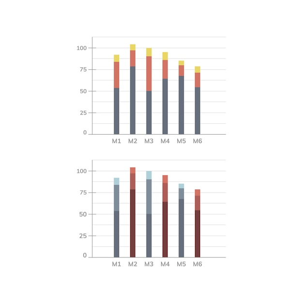 Balkendiagramm statistik diagramm vektor