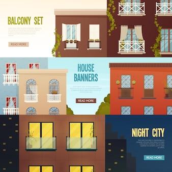Balkon haus banner set