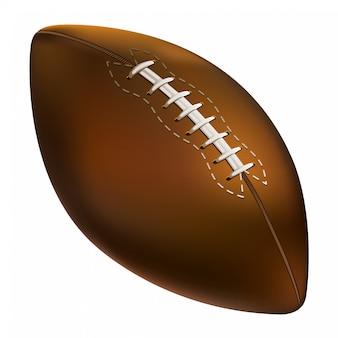 Ball des amerikanischen fußballs