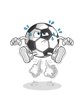 Ball furz springen illustration